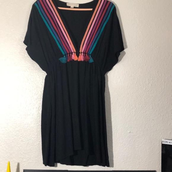 lovestitch Dresses & Skirts - Retro striped tassel dress